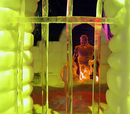 Ice sculptures from Ice Festival in Bruges