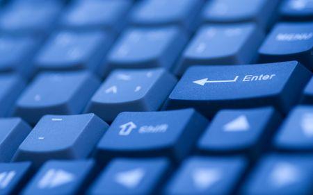 Computer-Tastatur mit einem Minimum an DoF. Standard-Bild - 2927057