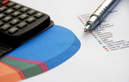 Financial report 版權商用圖片