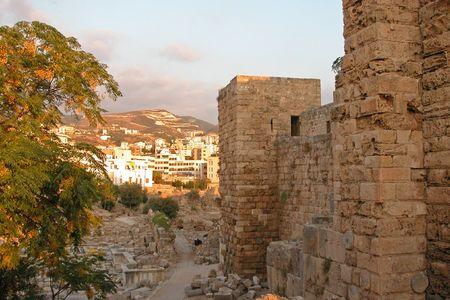 beirut lebanon: Byblos(jbeil)  archaeological place in Beirut, Lebanon Stock Photo