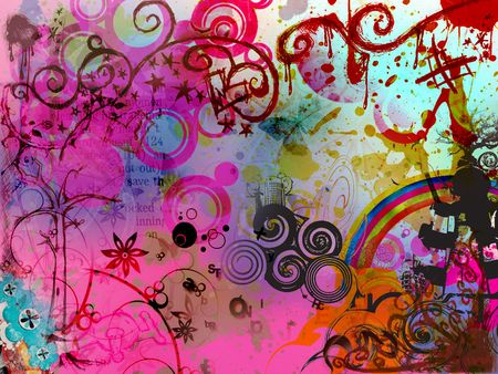 BAckground with various shapes and patterns photo