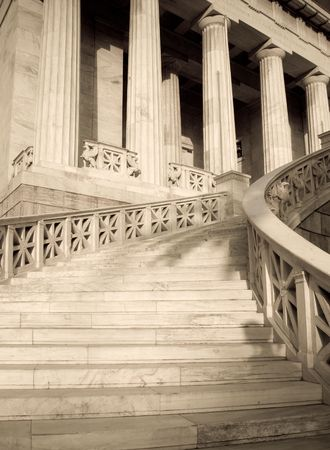 Clasical building entrance Stock Photo