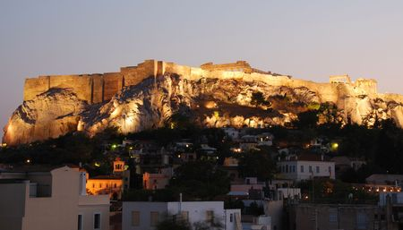 Athens cityscape with view of Acropolis hill photo