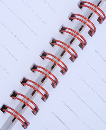 Node book with red metal spiral photo