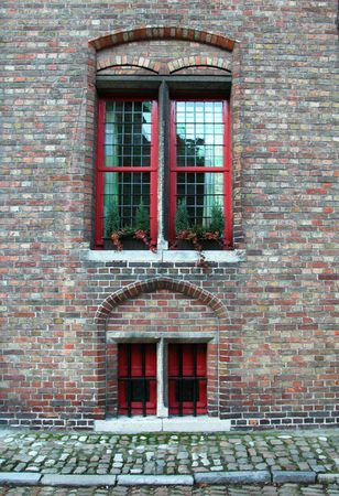 Two windows from an old styled house. Stock Photo - 3749858