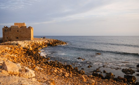 social history: Famous medieval castle at Paphos in Cyprus. Stock Photo