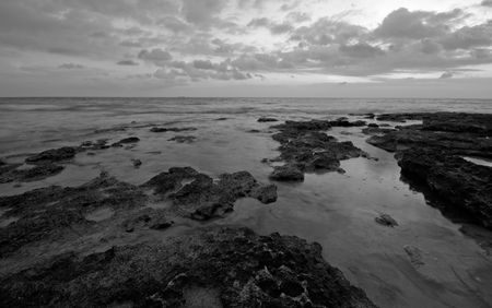 After sunset in Black and White photo