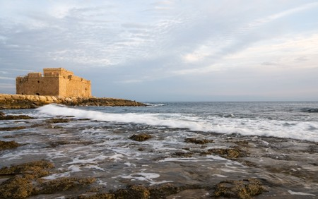 Famous medieval castle at Paphos in Cyprus. Stock Photo