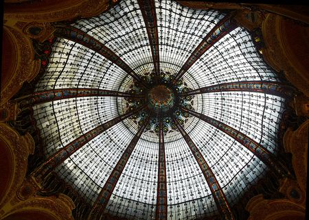 glass ceiling: Glass ceiling from lafaette shopping mall Stock Photo