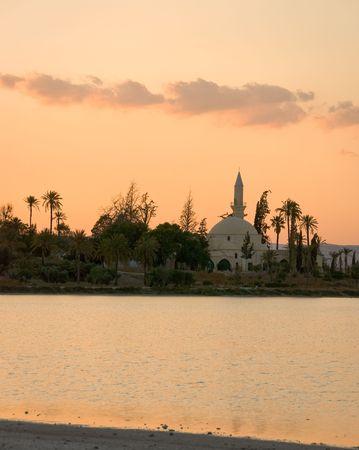 Hala Sultan Tekke-Moschee in Larnaka Zypern Standard-Bild - 4962200