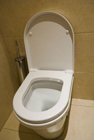 Modern toilet in a bathroom photo