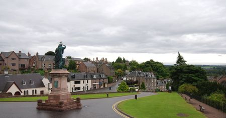 Cityscape of Inverness in Scotland Highlands from the Castle Stock Photo