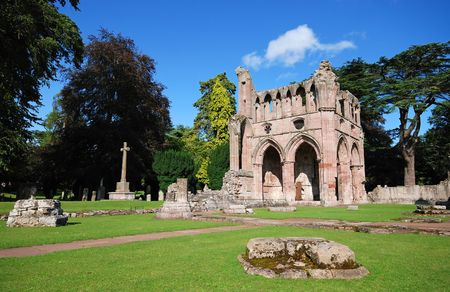 Dryburgh Abbey in Southern Scotland near the Scottish borders with England. Stock Photo