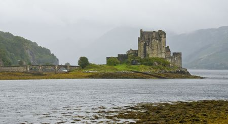 Eilean Donan Castle in the loch Alsh at the highlands os Scotland.