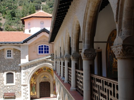 house of worship: Kykkos famous monastery in Troodos mountains, Cyprus