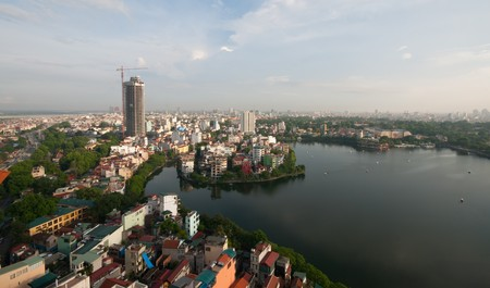 Cityscape of Hanoi in Vietnam