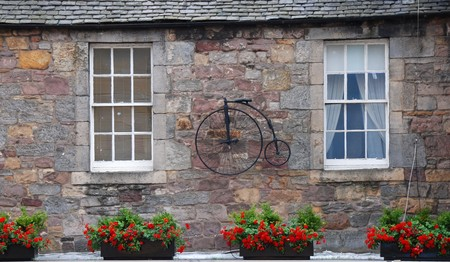 Exterior of a traditional Scottish house photo