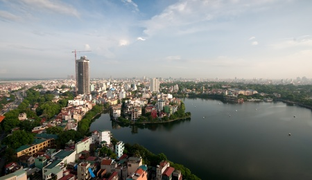 Cityscape of Hanoi city in Viet nam , Vietnam Stock Photo