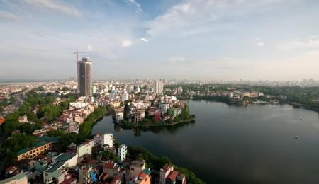 Cityscape of Hanoi city in Viet nam , Vietnam Stock Photo