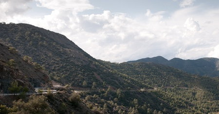 Landscape from Troodos mountains in Cyprus island Stock Photo