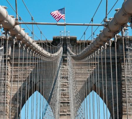 Brooklyn bridge in New York City, Manhattan area USA