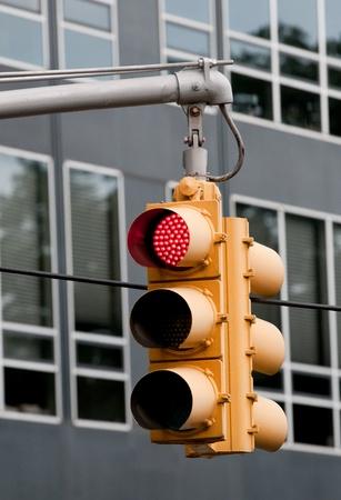 Traffic light from New York city street.