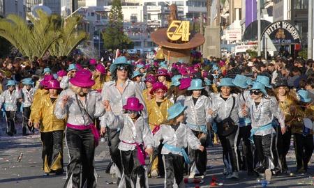 limassol: Dancers  in Limassol carnival parade.