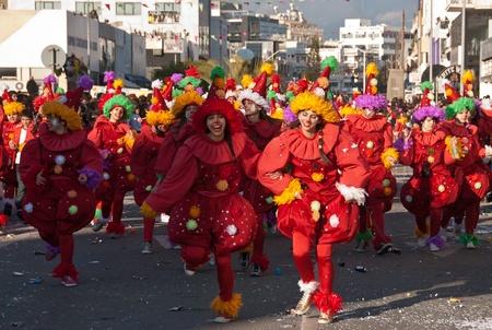 limassol: Dancers  in Limassol carnival parade  Editorial