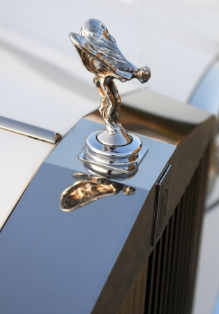 The Spirit of Ecstasy, mascot of Rolls-Royce from a Rolls Royce collector car owner on May 15, 2012 in  Nicosia, Cyprus  The Spirit of Ecstasy is also called the Flying Lady or the Silver Lady