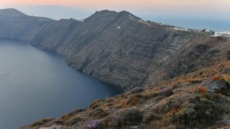 caldera: Dramatic view of Santorini Caldera in Greece