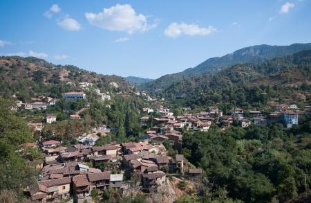 Mountain village of Kakopetria in Troodos mountains , Cyprus