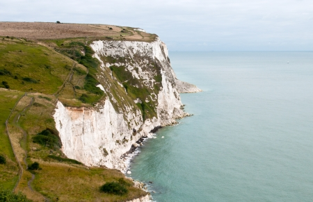 White Cliffs of Dover in Kent area at the southest of England