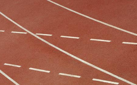 venue: Spotrs venue  running track background Stock Photo