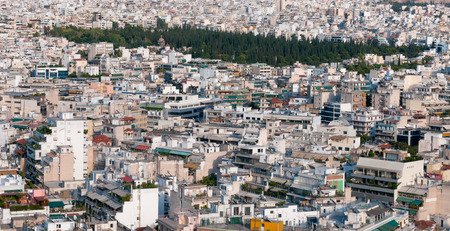 housing problems: Cityscape of Athens which is the capital of  Greece.