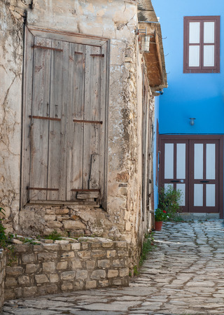 entranceway: traditional house yard  from Leukara village in Cyprus Stock Photo