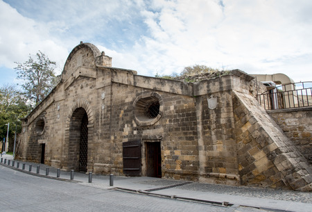 historical building: Famous historical building  landmark of Famagusta Gate  in the city of Nicosia in Cyprus. The gate is  used to be the most important gate of the city within the Venetian wall that protected Nicosia. Stock Photo
