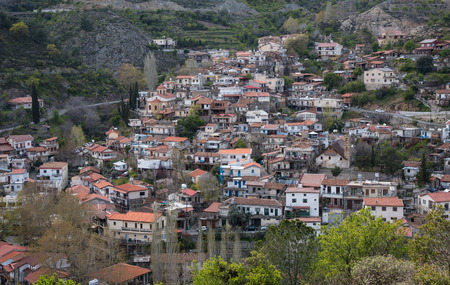 Mountain village of Palaichori at Troodos mountains in  Cyprus. The village is part of Pitsilia agricultural region  which are famous for producing wines.