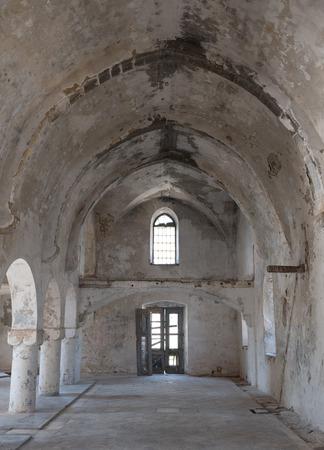 panteleimon: Interior of the abandoned orthodox monastery  of Saint Panteleimon at the village of Myrtou in Cyprus.