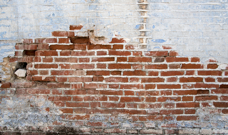 red clay: Colorful brick wall background with red clay bricks