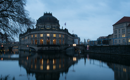 bode: Berlin, Germany - January 18, 2016: Bode art Museum is one of the groups of museums on the Museum Island in Berlin, Germany. Editorial