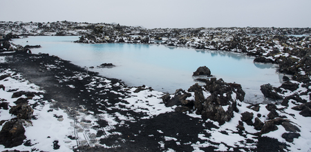 blue lagoon: Small lake outside the Blue lagoon at Reykjanes Peninsula in Iceland