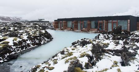 blue lagoon: Case di lusso per una sana trattamento corpo Spa a Laguna blu lago in Islanda