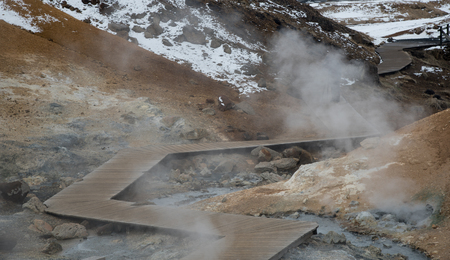 geothermal: Gunnuhver Geothermal field in the island of Iceland Stock Photo