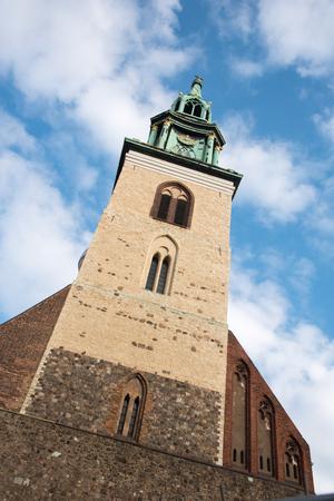 marys: Belfry of the Protestant Saint Marys Church, Marienkirche, in Berlin Germany