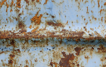 oxidized: Blue rusty oxidized mettalic surface background with textures.