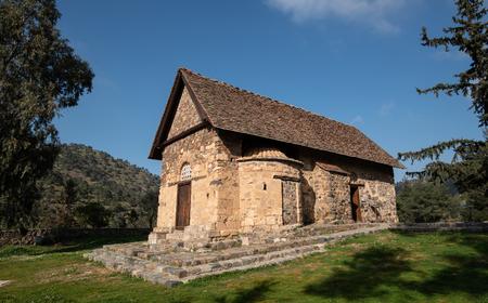 Famous Greek orthodox church of Panagia Asinou at Nikitari village in Cyprus.