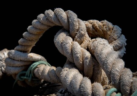 Twisted ship mooring strong rope for securing fishing boats