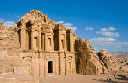 Monastery at Petra archaeological monument in Jordan