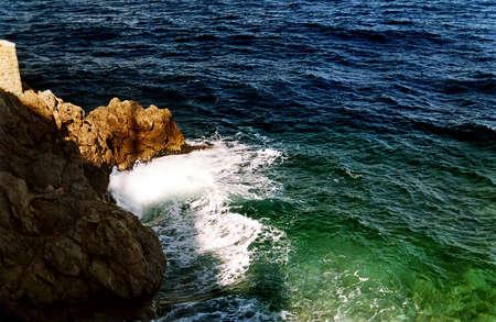 azure coast: Mediterranean azure coast near Monako
