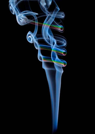 Abstract colored smoke isolated on black background